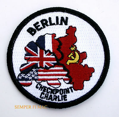 Berlin Wall Crossing Check Point Charlie Patch Us Army Marine Air Force Navy Ww2