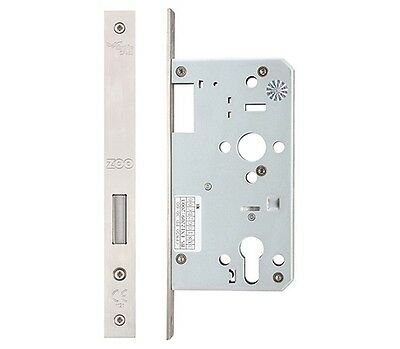 Euro Profile DIN Standard Mortice Deadlock -Satin Stainless Steel (60mm Backset)