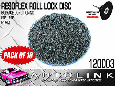 RESOFLEX 51mm ROLOC DISC ( FINE BLUE ) GASKET CLEANER SURFACE CONDITIONING x10