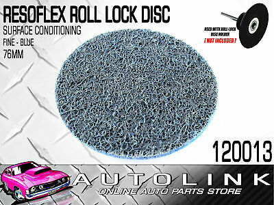 RESOFLEX 76mm ROLOC DISC FINE BLUE HEAD GASKET REMOVER SURFACE CONDITIONING x1
