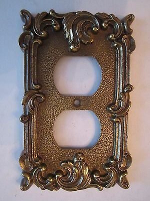 "Antique Double Wall Plate - Cast Iron - Heavy - 5"" X 3"" - Decorative"