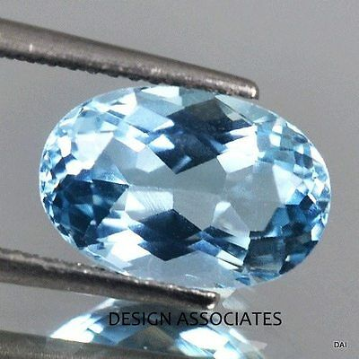 AQUAMARINE7x5 MM OVAL CUT OUTSTANDING BLUE COLOR ALL NATURAL