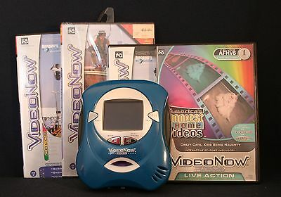 Video Now Color Personal Video Player w/4 PVD Discs