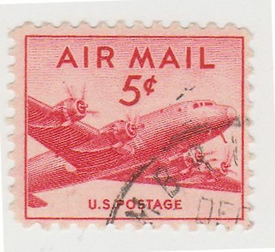 (UST-41) 1947 USA 5c red small mail plane Air mail (B)