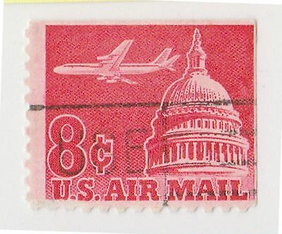(UST-212) 1962 USA 8c red Capital air mail (V)