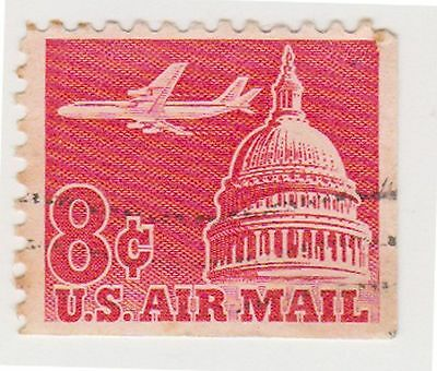 (UST-209) 1962 USA 8c red Capital air mail (S)