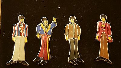 Vintage, The Beatles Collector Series-Yellow Submarine Edition Cloisonne Pin Set