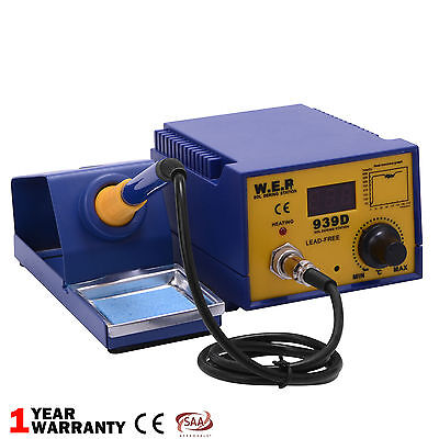 New 60W Weld Soldering Station Iron Stand Digital Temp Control ESD Safe Sponge
