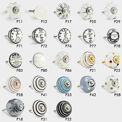 Large Selection Vintage Ceramic Metal Cupboard Drawer Door Pull Handle Knobs
