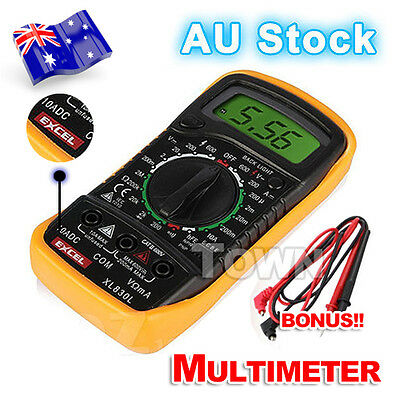 LCD Digital Multimeter Electrical AC DC Voltmeter Ohmmeter Multi OHM Tester