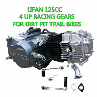 4 Stroke 125cc Lifan Engine Motor Racing Gears 50/70/110 cc Dirt Pit Trail bikes