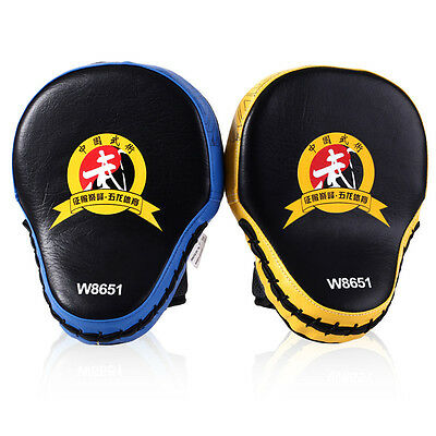 Boxing Hand Foot Target Focus Pads Curved Leather MMA Muay Thai Strike Pad X49