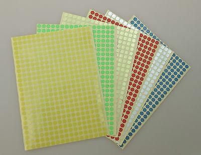 6mm Round 6 Colour Dot Sticker Circle Sticky Self Adhesive Label