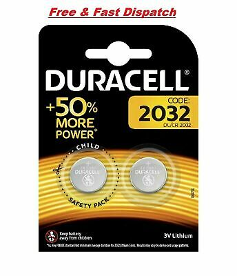 2 X Duracell CR2032 3V Lithium Button Battery Coin Cell DL2032 Expiry 2028