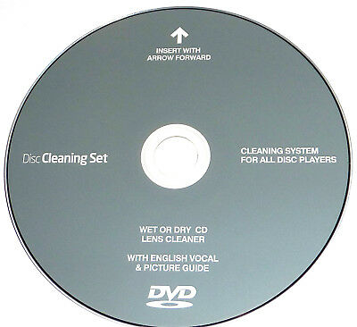 CD Player DVD Disc Drive Cleaner Cleaning Laser Lens for PS2,3, Xbox 360.BluRay