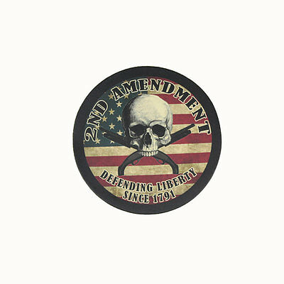 Biker Chopper 2nd Amendment Skull Shotgun USA Echt Leder Aufnäher Leather Patch