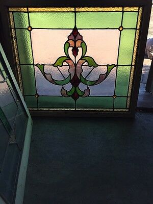 Sg 500 For Antique Stainglass Window 4 Jewels