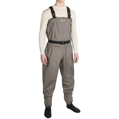 Pro Line Carrington Breathable Fly Fishing Chest Waders Stocking Foot - Large