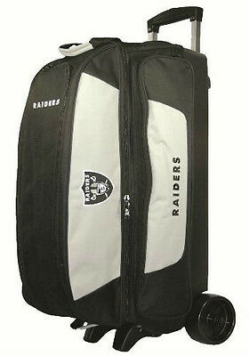 KR NFL Oakland Raiders 3 Ball Roller Bowling Bag