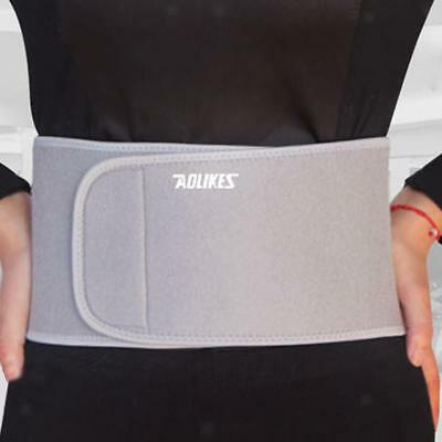 Breathable Compression Strap Back Support Lumbar Waist Brace Belt Sport Gray
