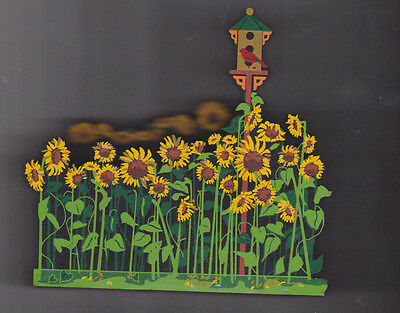 """1997 Shelia's plaque 4092/5000  My Favorite Places """"Sunflower Field"""" ACL21"""