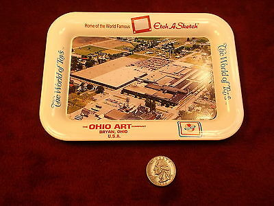 """MINT CONDITION 1970""""s TRAY """"OHIO ART, HOME OF ETCH-A-SKETCH"""" THE WORLD OF TOYS"""