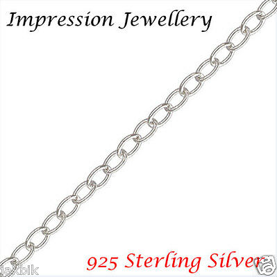 925 Sterling Silver Oval Cable Chain 0.3 MM