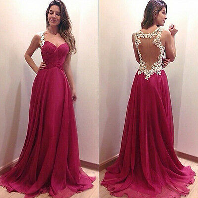 Sexy Women Bridesmaid Ball Prom Gown Formal Evening Party Cocktail Long Dress