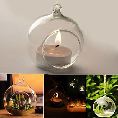 Romantic Wedding Dinner Decor Crystal Glass Hanging Candle Holder Candlestick