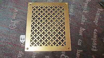 "Vintage Cast Iron Floor Grate 12"" x 10"" Heat Grate 1"" Inside Lip 5 1/2 Pounds"