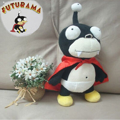 Futurama Nibbler Leela's Pet Nibblonian 3 Eye Alien Soft Plush Doll Toy 16'' New