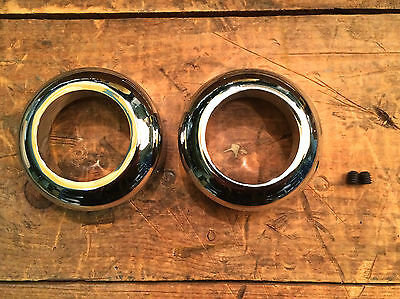 CHROME FRONT FORK SEAL COVERS 41MM Harley Softail Wide Glide Chopper
