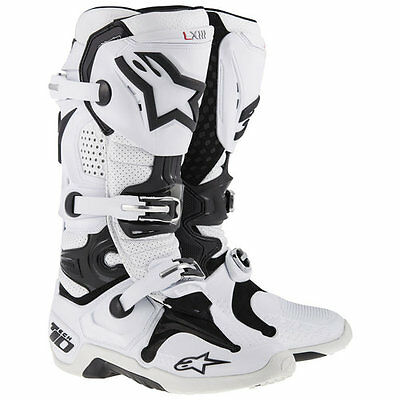 ALPINESTARS Tech 10 Vented White Boots Free Express Eu Delivery