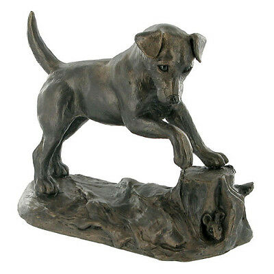 Jack Russell Dog Cold Cast Bronze Sculpture / Figurine.New & Boxed