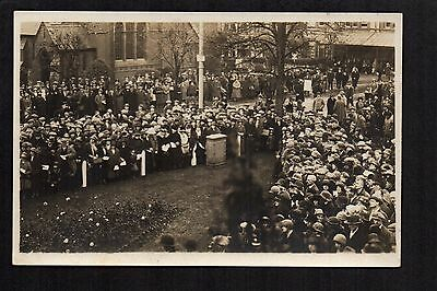Colwyn Bay - Armistice Day - real photographic postcard