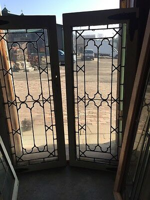 Sg 517 Matched Pair Antique Cabinet Doors Or Transom Windows