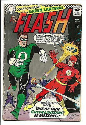 FLASH # 168 (GREEN LANTERN app. MAR 1967), VG+