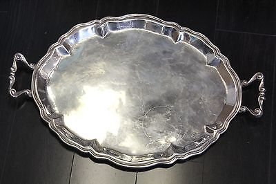 "Large Sterling Silver Camusso Peru Heavy Platter Tray 22.75"" x 15"" 53 Troy Oz"