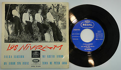 LOS NIVRAM * FALSA Ilusion + 3 EP * 1965 KILLER WILD GARAGE FULL SIGNED BAND EX+