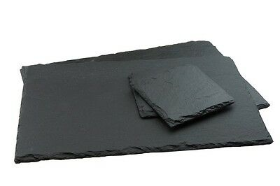 12 Piece Natural Slate Coasters Placemats Sets Tablemat Dinner Coffee Drinks Mat