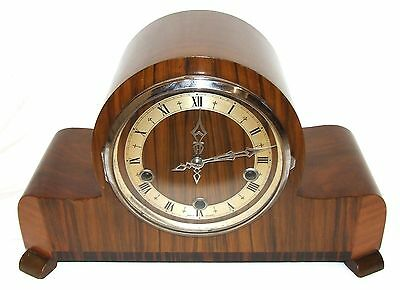 ENFIELD LONDON ART DECO Walnut 3 Train Musical Westminster Bracket Mantel Clock