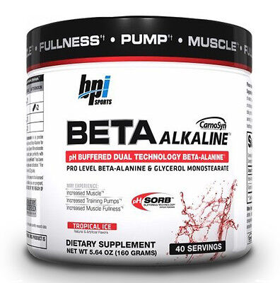 BPI Sports Beta Alkaline Tropical Ice Build Muscle (40 Servings) (Best By 11/16)