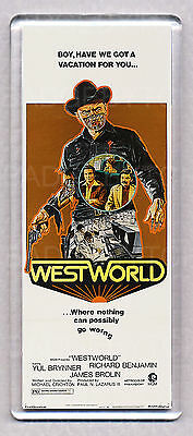 WESTWORLD - WIDE movie poster LARGE FRIDGE MAGNET - 70's Sci-Fi CLASSIC!