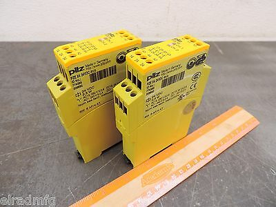 PILZ PZE X4  SAFETY RELAY SWITCH MONITOR 24 VDC ID NO 774585 4/n/o LOT OF (2)