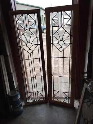 Sg 531 Pair Beautiful All Beveled Glass Sidelights