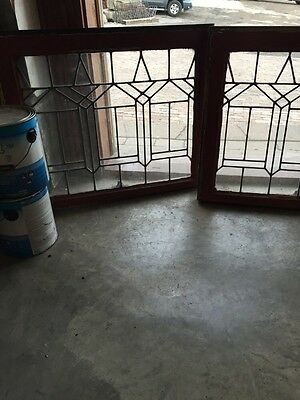 Sg 531 Two Available Price Separate Antique Leaded Glass Windows