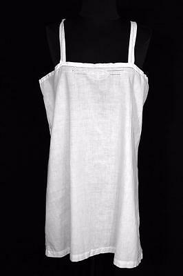 Very Rare French Edwardian-1920's Short Cotton Slip With Embroidery  Size Large