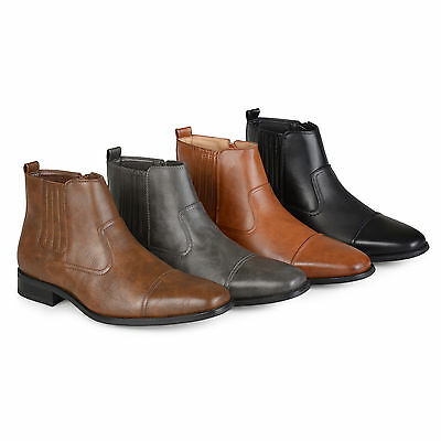 Territory Men's Regular and Wide-Width High Top Square Toe Chelsea Dress Boots