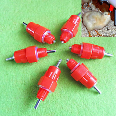 10pcs Chicken Duck Hen Automatic In Poultry Water Nipple Drinker Feeder