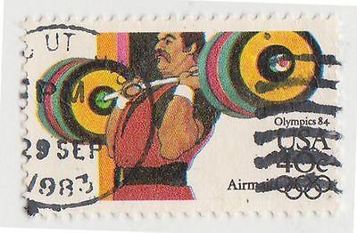 (UST-417) 1982 USA 40c weight lifting Olympics air mail (space filler) (G)